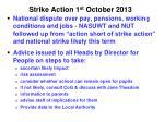 strike action 1 st october 2013