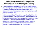 third party harassment repeal of equality act 2010 employee liability