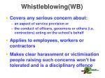 whistleblowing wb