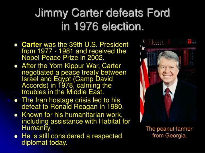 Jimmy Carter defeats Ford