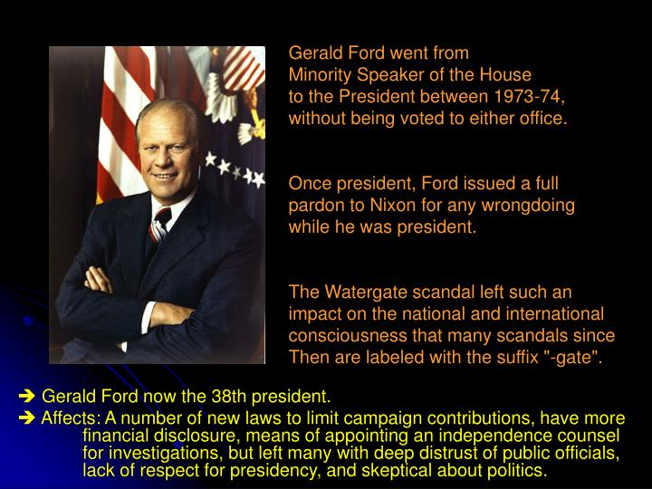 Gerald Ford went from
