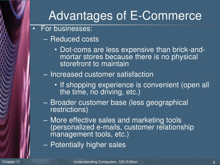 Advantages of E-Commerce