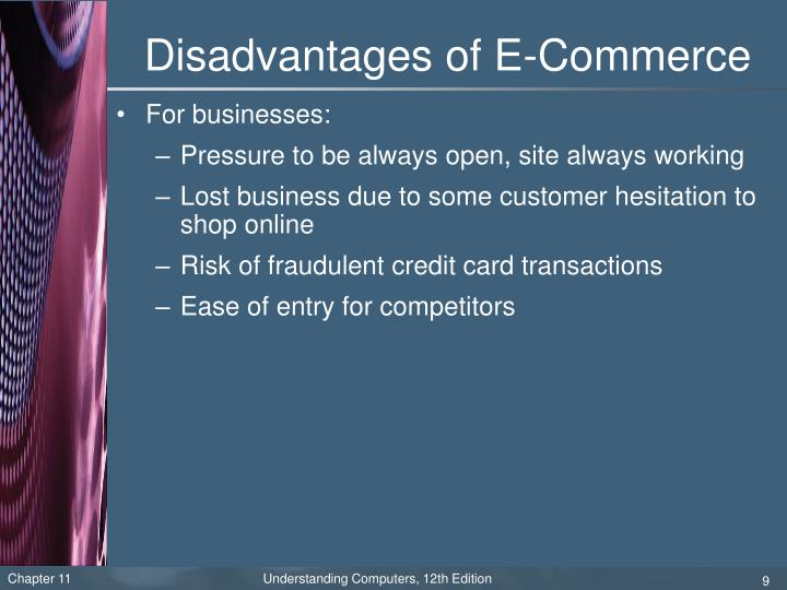 Disadvantages of E-Commerce