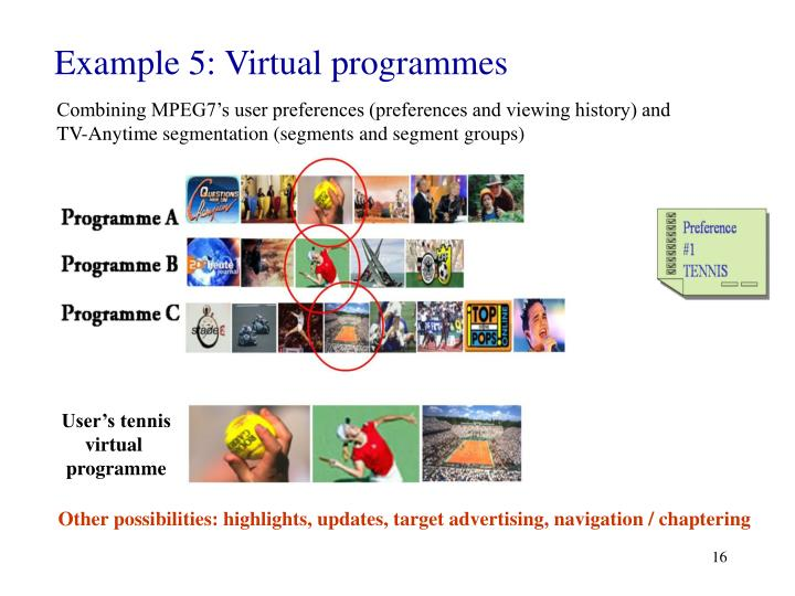 Example 5: Virtual programmes