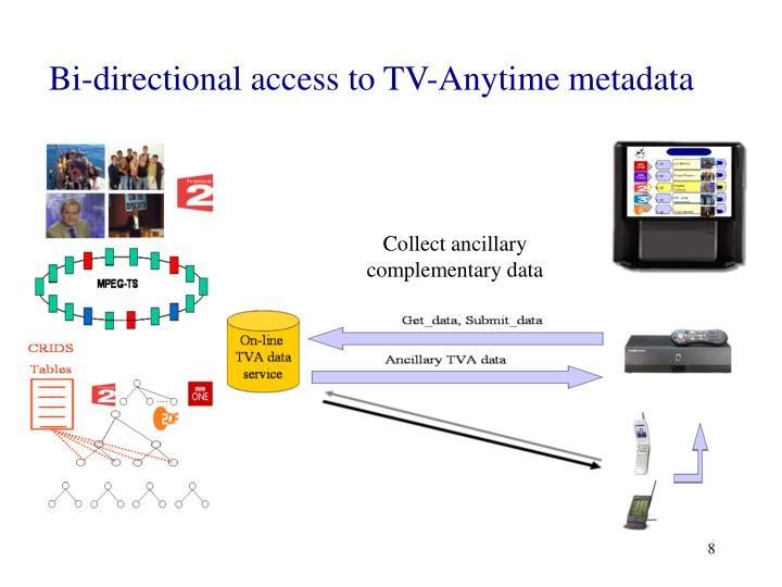 Bi-directional access to TV-Anytime metadata