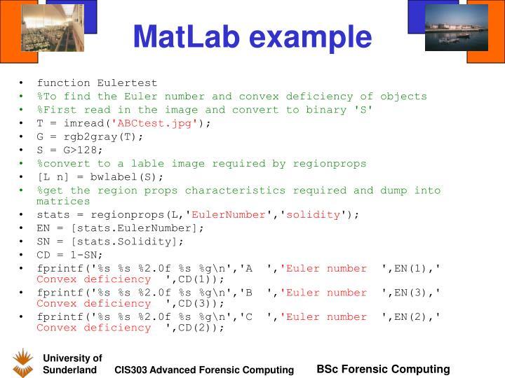 MatLab example