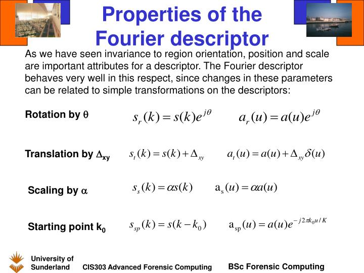 Properties of the Fourier descriptor