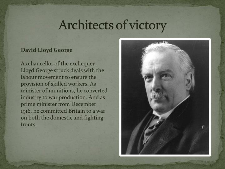 Architects of victory