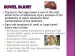 bowel injury