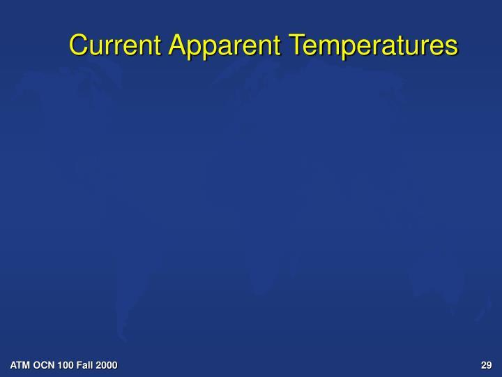 Current Apparent Temperatures