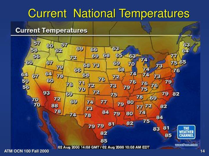 Current  National Temperatures