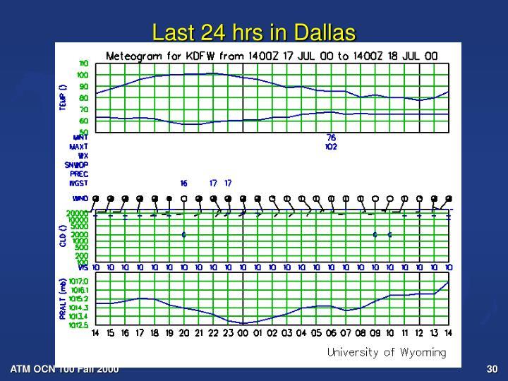 Last 24 hrs in Dallas