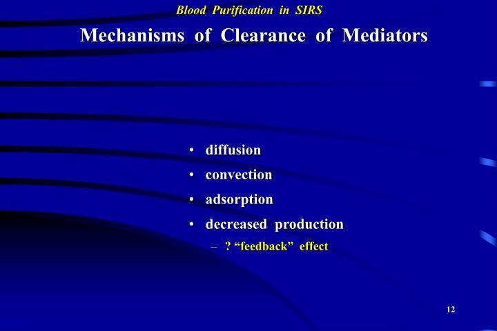 Mechanisms  of  Clearance