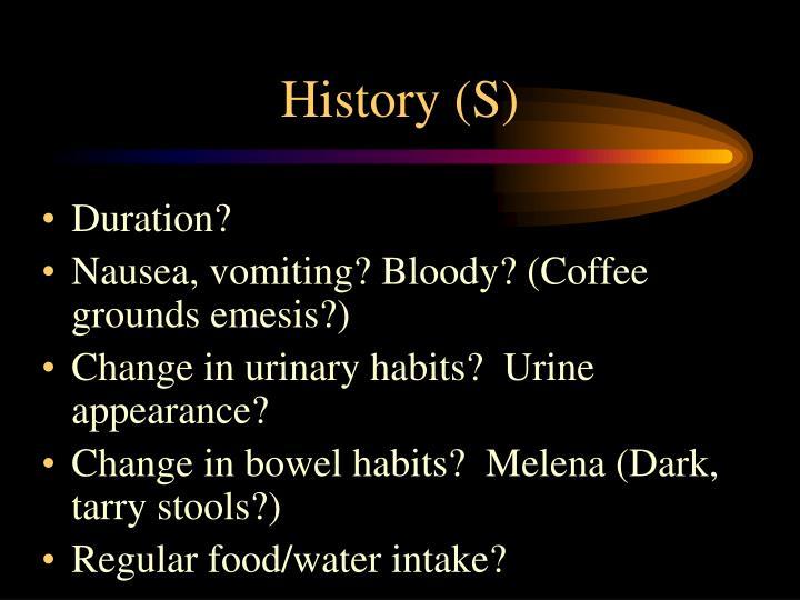History (S)
