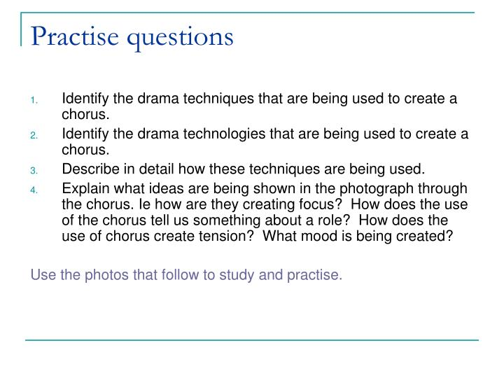 Practise questions