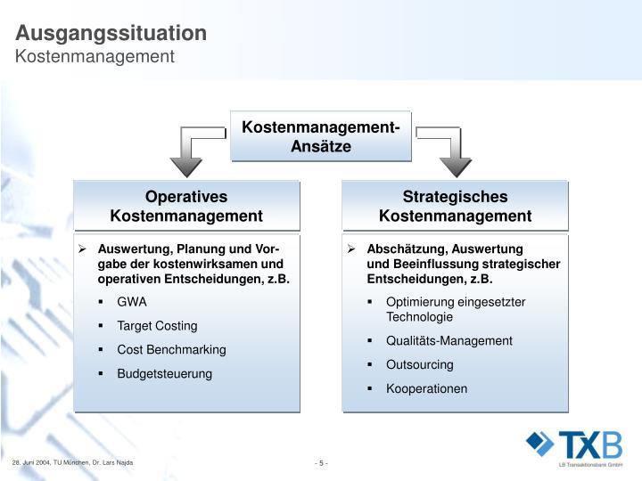 Kostenmanagement-