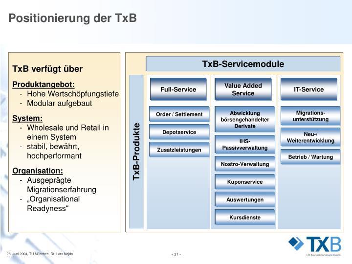 TxB-Servicemodule