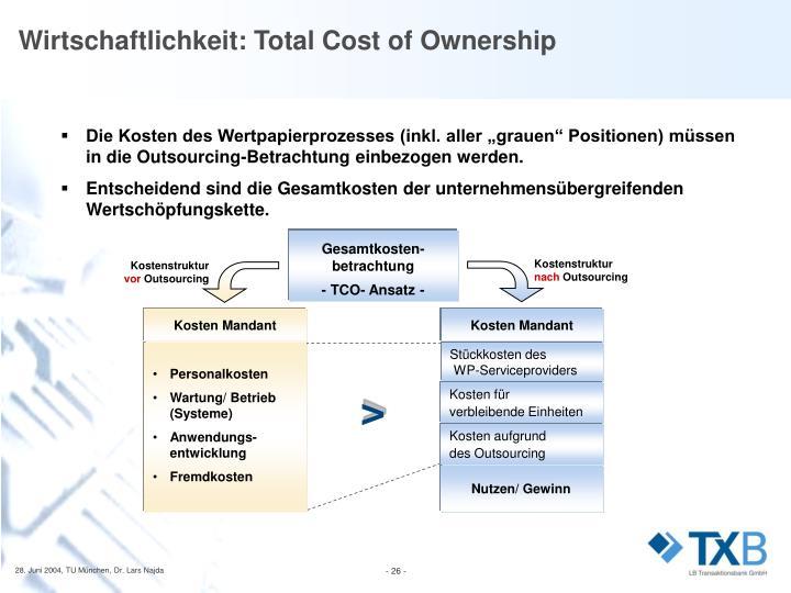 Kostenstruktur