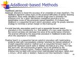 adaboost based methods6