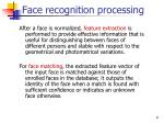 face recognition processing2