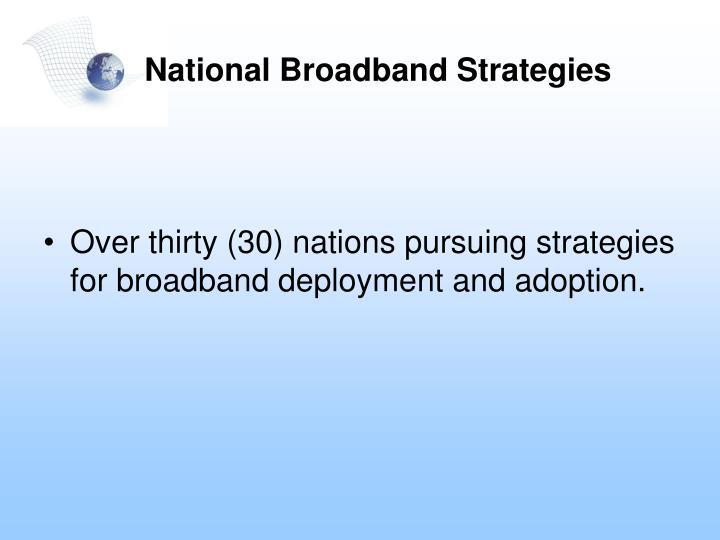 National broadband strategies