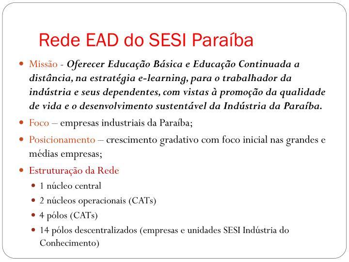 Rede EAD do SESI Paraíba