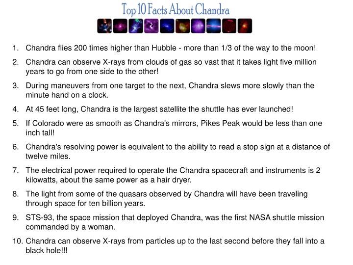 Chandra flies 200 times higher than Hubble - more than 1/3 of the way to the moon!