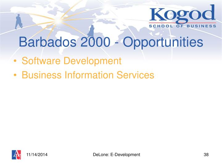 Barbados 2000 - Opportunities
