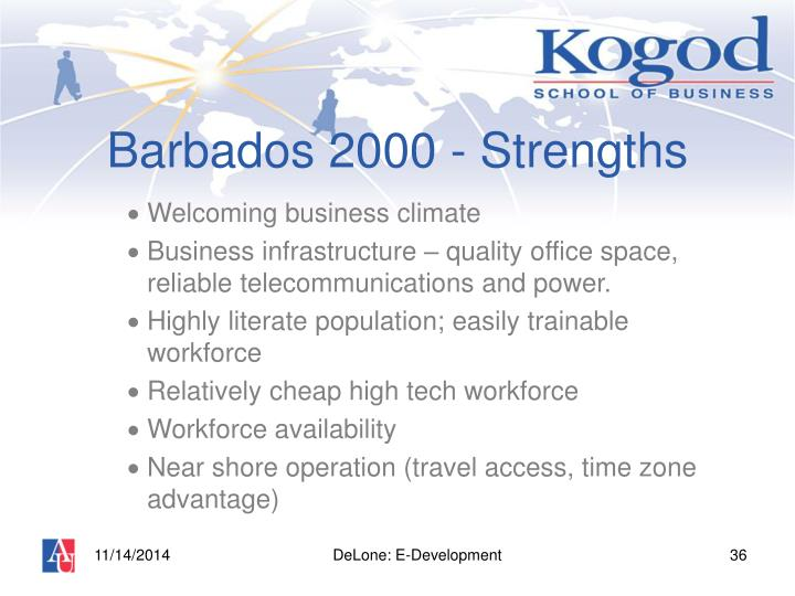 Barbados 2000 - Strengths