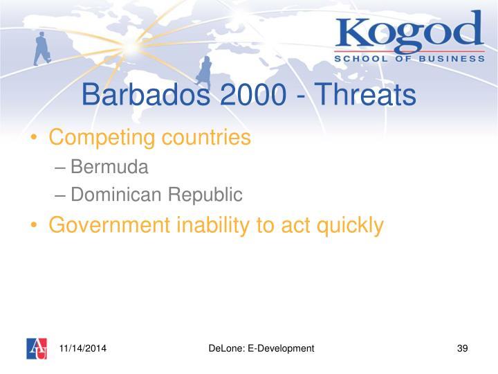 Barbados 2000 - Threats