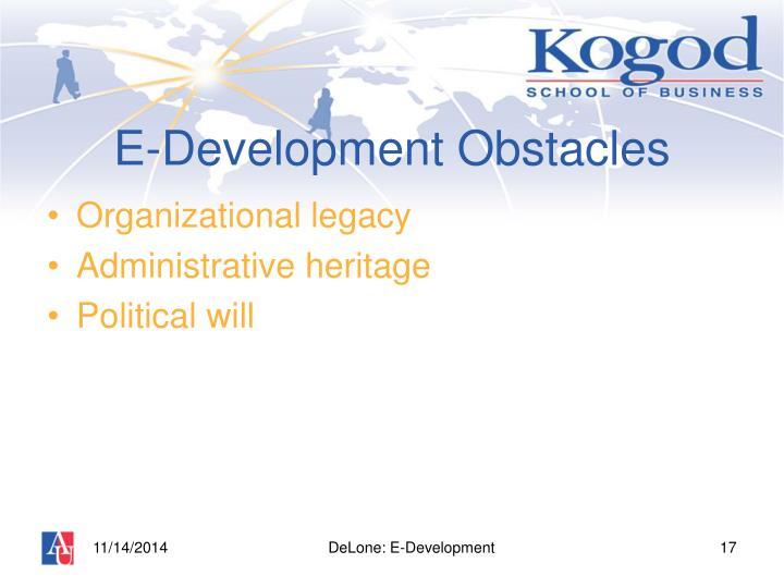 E-Development Obstacles