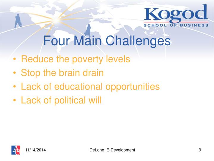 Four Main Challenges