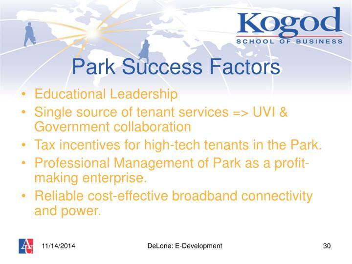 Park Success Factors