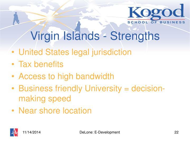 Virgin Islands - Strengths