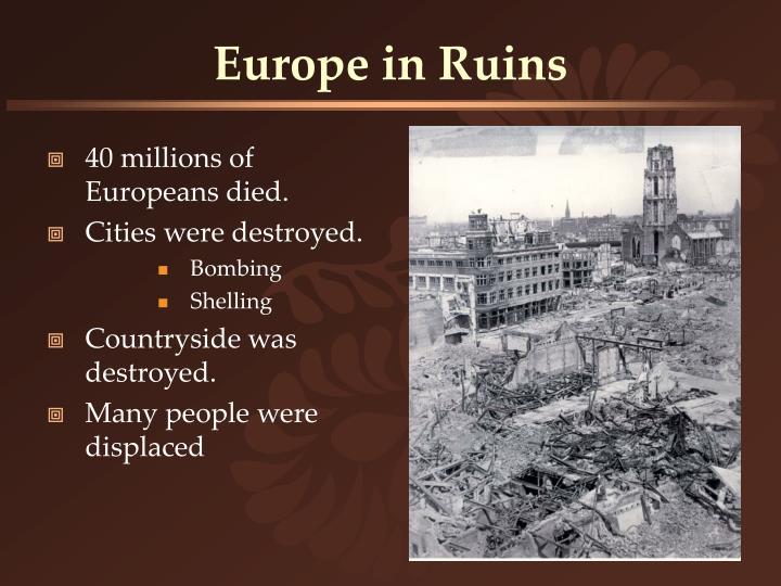 Europe in ruins