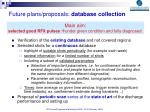 future plans proposals database collection