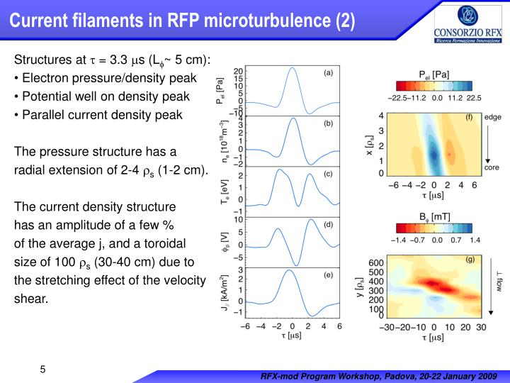 Current filaments in RFP microturbulence (2)