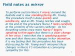 field notes as mirror