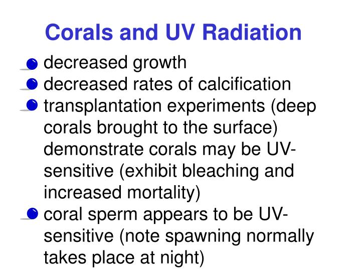 Corals and UV Radiation