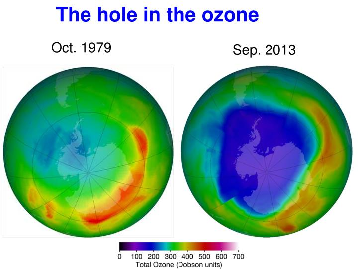 The hole in the ozone