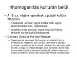 inhomogenit s kult r n bel l