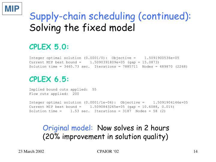 CPLEX 5.0: