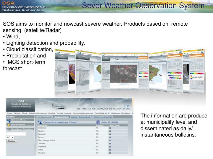 Sever Weather Observation System