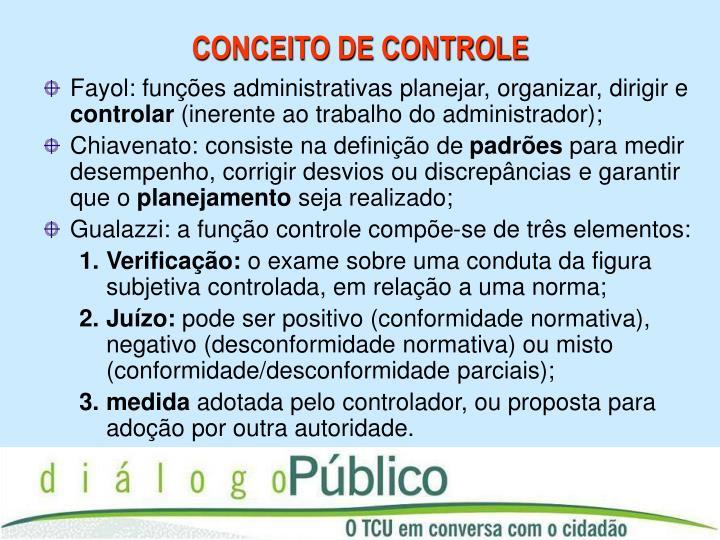 Conceito de controle