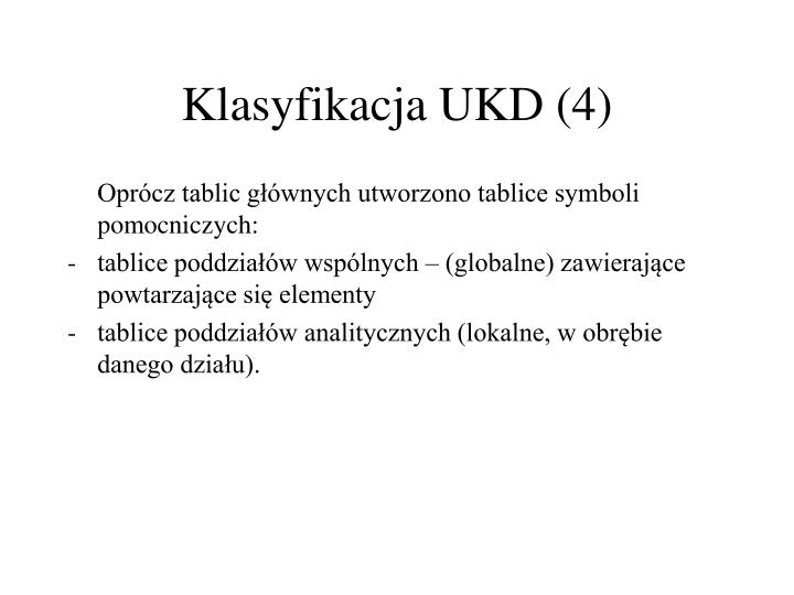 Klasyfikacja UKD (4)