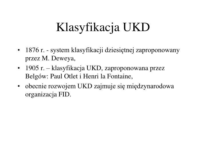 Klasyfikacja UKD