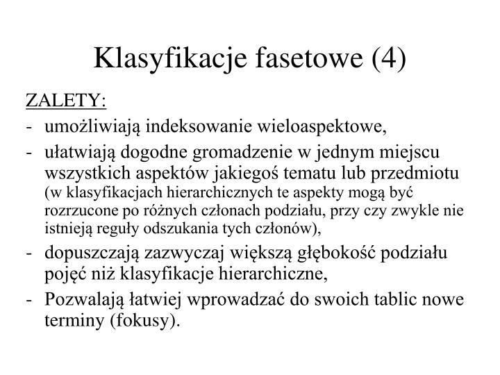 Klasyfikacje fasetowe (4)