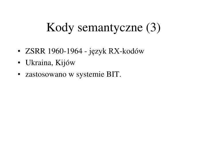 Kody semantyczne (3)