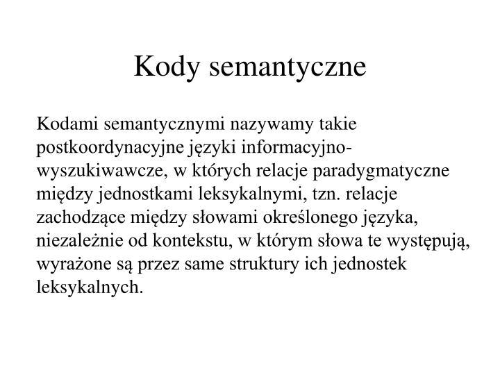 Kody semantyczne
