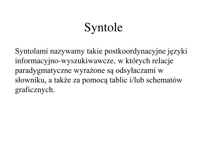 Syntole